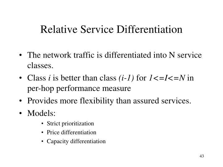 Relative Service Differentiation