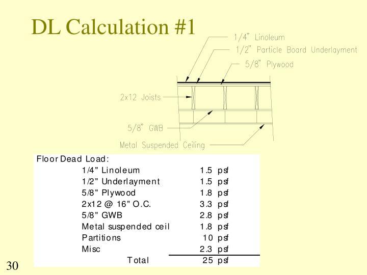 DL Calculation #1