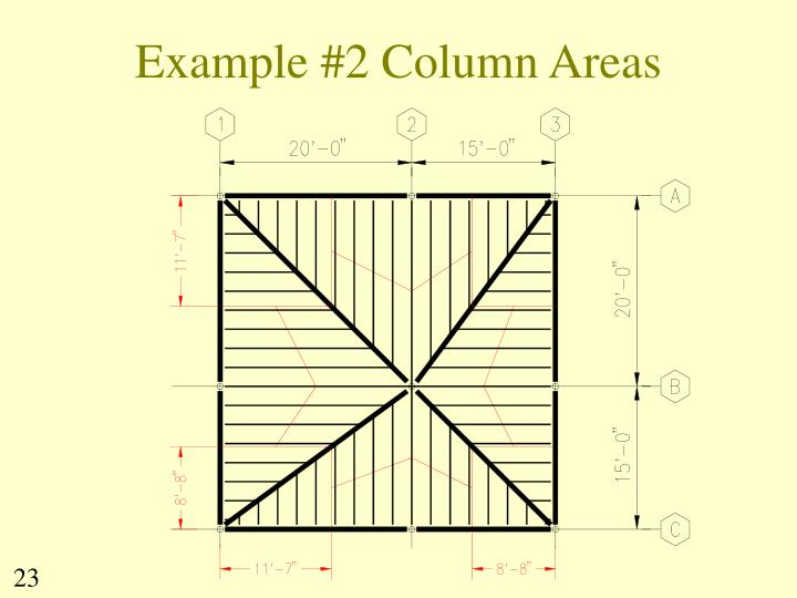 Example #2 Column Areas