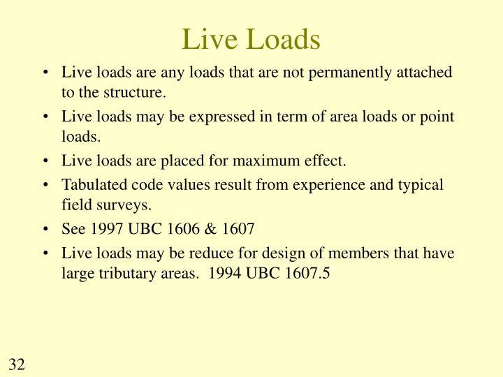 Live Loads
