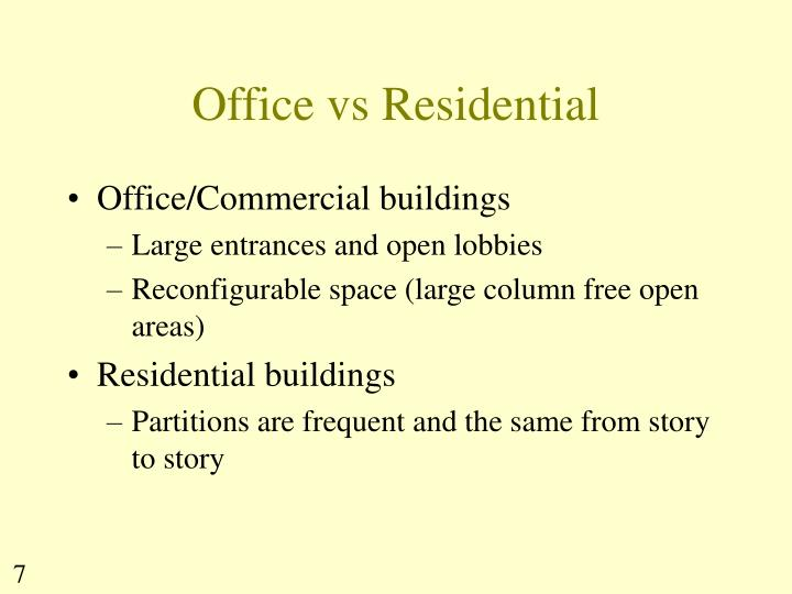Office vs Residential