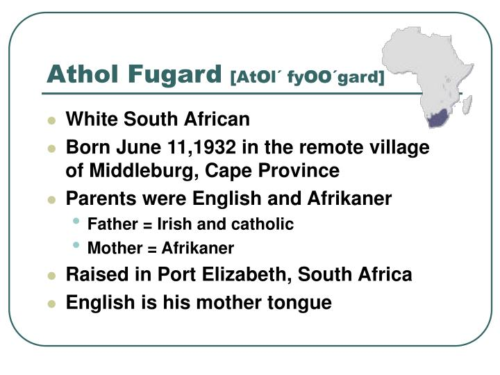 Athol Fugard