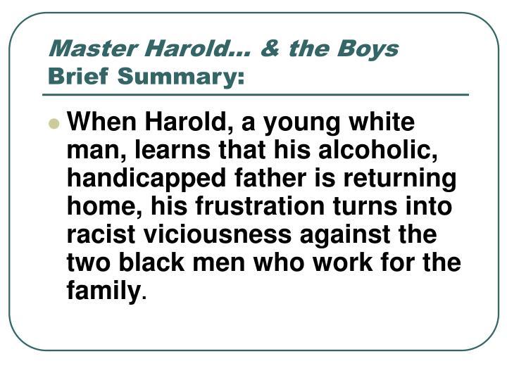 Master Harold… & the Boys