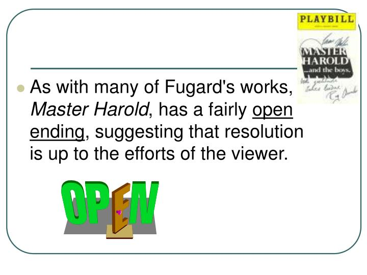 As with many of Fugard's works,