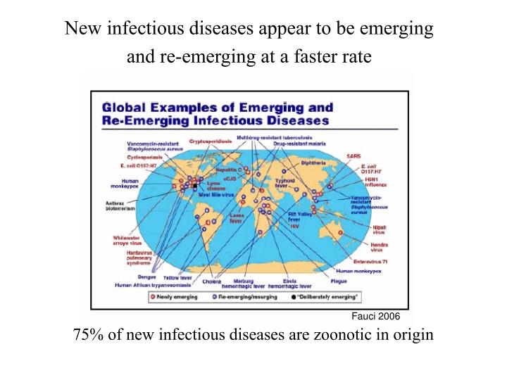 New infectious diseases appear to be emerging