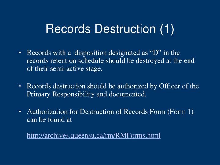 Records Destruction (1)