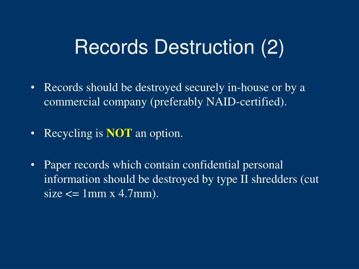 Records Destruction (2)