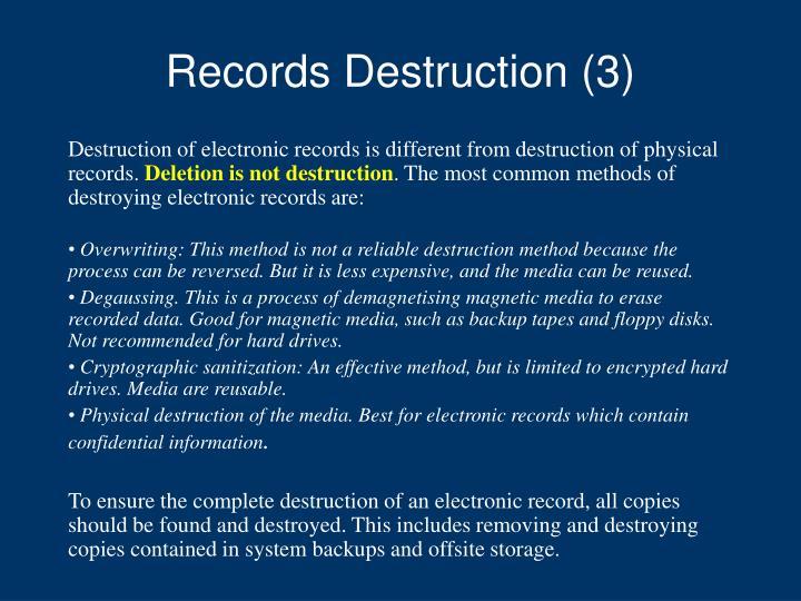 Records Destruction (3)