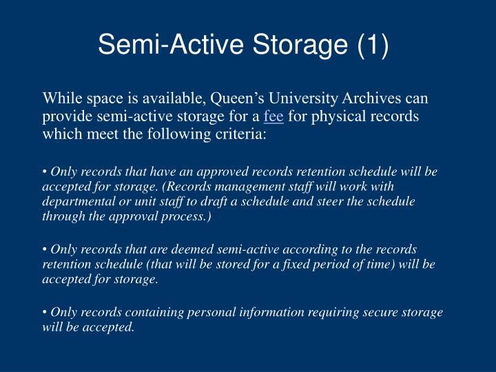 Semi-Active Storage (1)