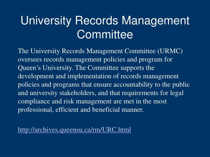 University Records Management Committee