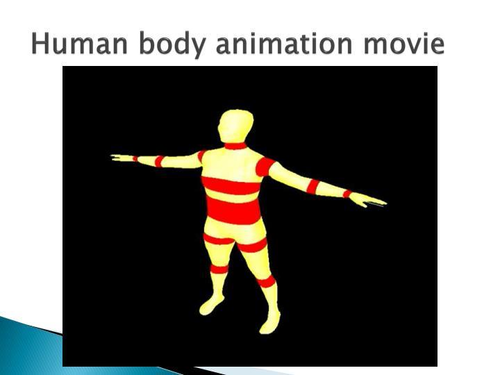 Human body animation movie