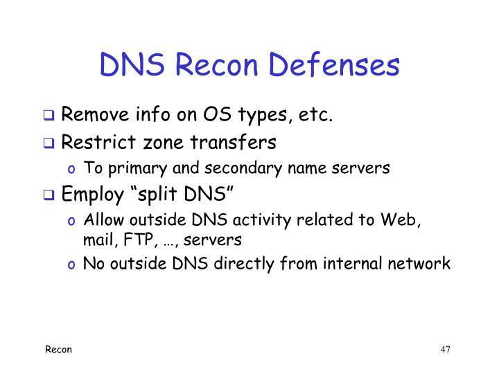 DNS Recon Defenses