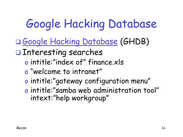 Google Hacking Database