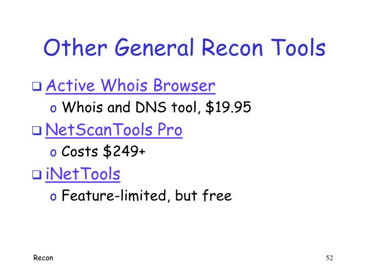 Other General Recon Tools