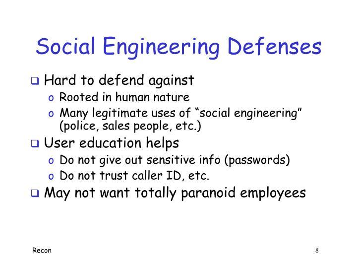 Social Engineering Defenses