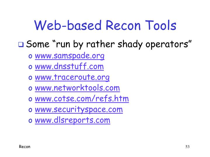 Web-based Recon Tools