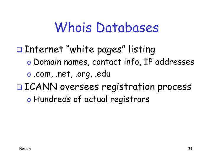 Whois Databases