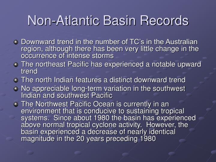 Non-Atlantic Basin Records