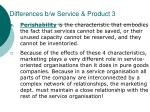 differences b w service product 3
