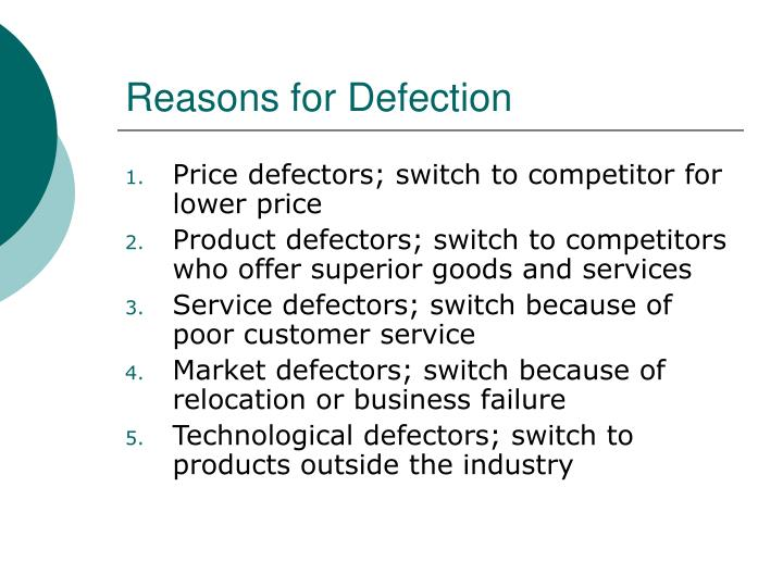 Reasons for Defection