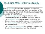 the 5 gap model of service quality