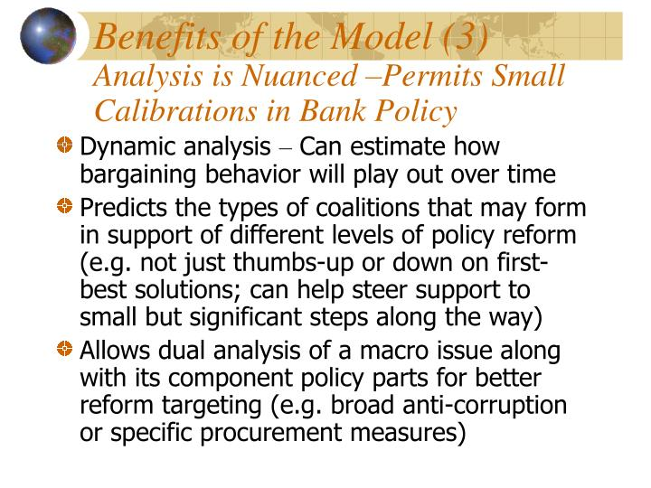 Benefits of the Model (3)