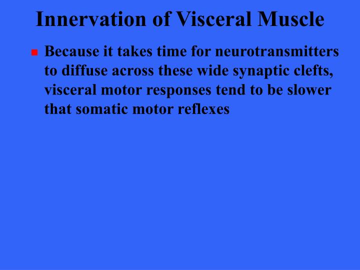 Innervation of Visceral Muscle