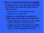 nerves and associated ganglia6