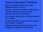 sensory receptor potentials
