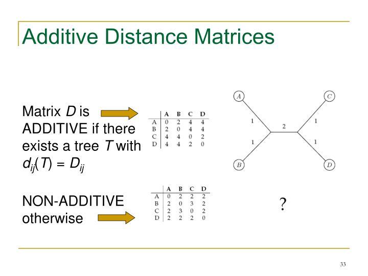 Additive Distance Matrices