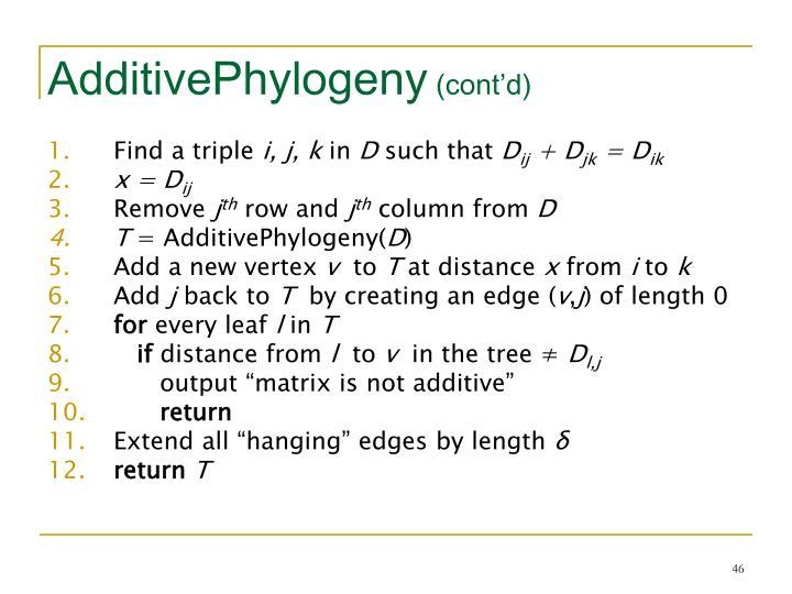 AdditivePhylogeny