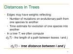distances in trees