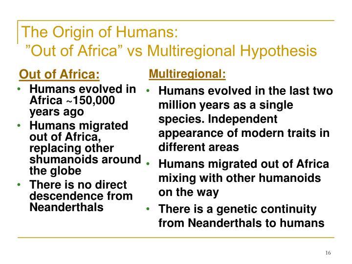 The Origin of Humans: