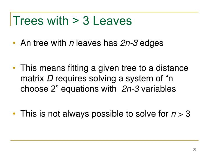 Trees with > 3 Leaves