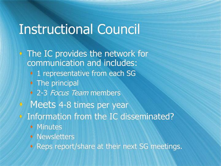 Instructional Council