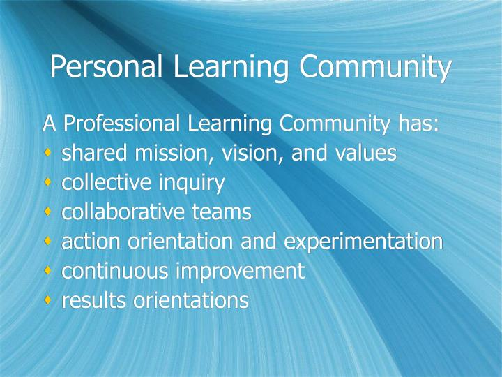 Personal Learning Community