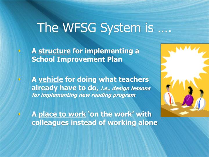 The WFSG System is ….