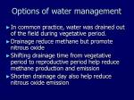 options of water management