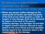 the substance of apportionment legislation law reform miscellaneous act 1965 nsw s10
