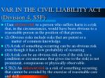 var in the civil liability act division 4 s5f
