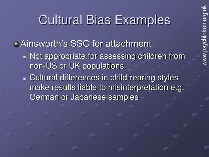 cultural bias in assessment and counseling The presence of cultural bias demonstrates that culturally biased assumptions in counseling the internationalization of counseling psychology is a.