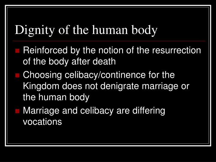Dignity of the human body