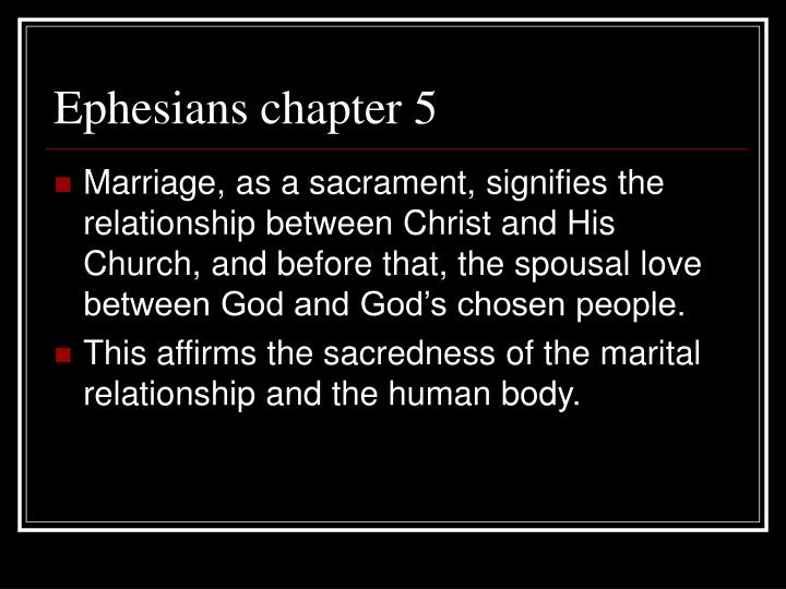 Ephesians chapter 5
