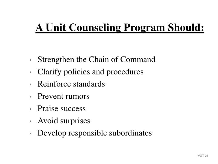 Strengthen the Chain of Command