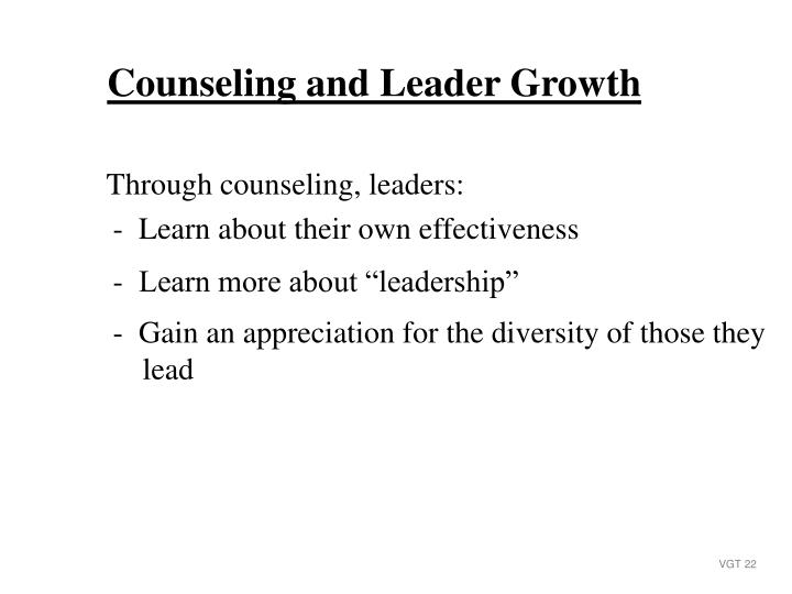 Counseling and Leader Growth