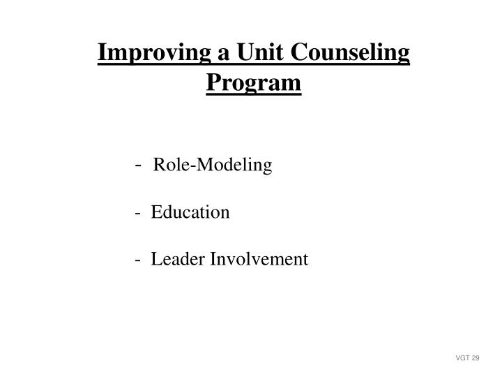 Improving a Unit Counseling Program