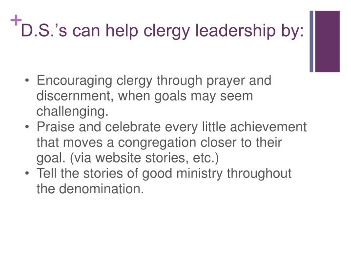 Encouraging clergy through prayer and discernment, when goals may seem challenging.