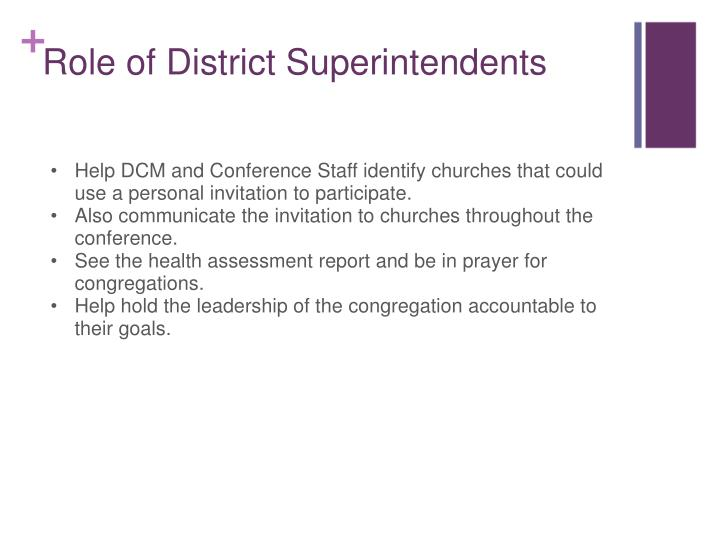 Help DCM and Conference Staff identify churches that could use a personal invitation to participate.