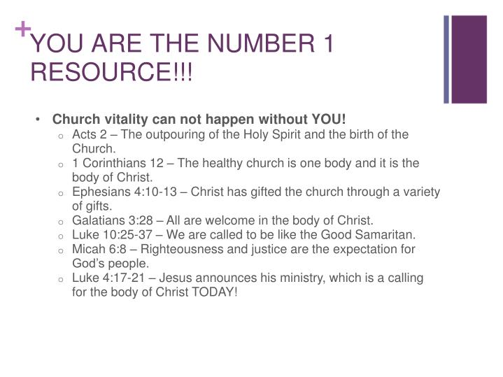 Church vitality can not happen without YOU!