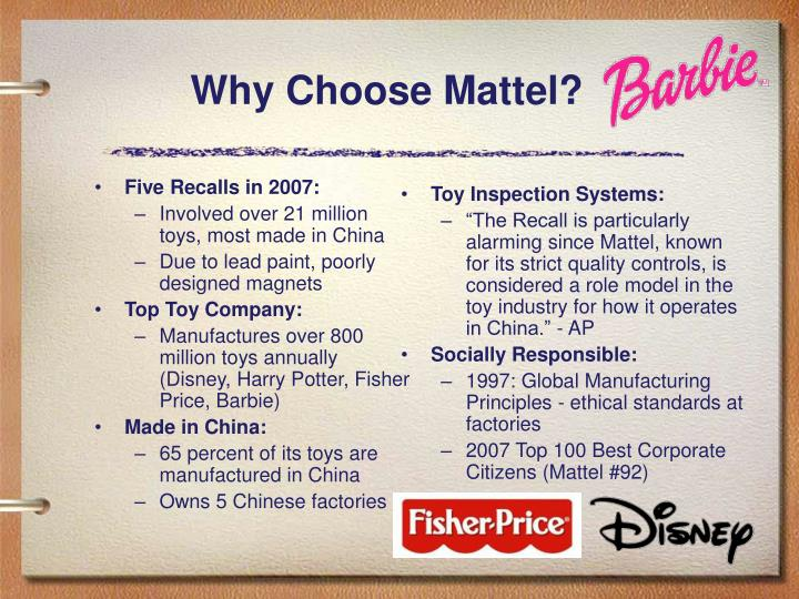mattel toy recalls 2007 Fisher-price toys with lead paint hazard recall fisher-price, in cooperation with the united states consumer product safety commission is voluntarily recalling a .